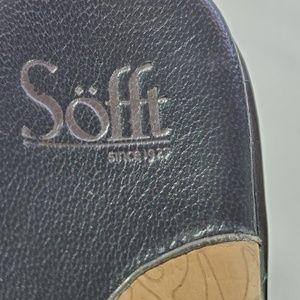 """Sofft Shoes - Sofft Black Leather Sandal, 2"""" Heel, Sz 7.5."""